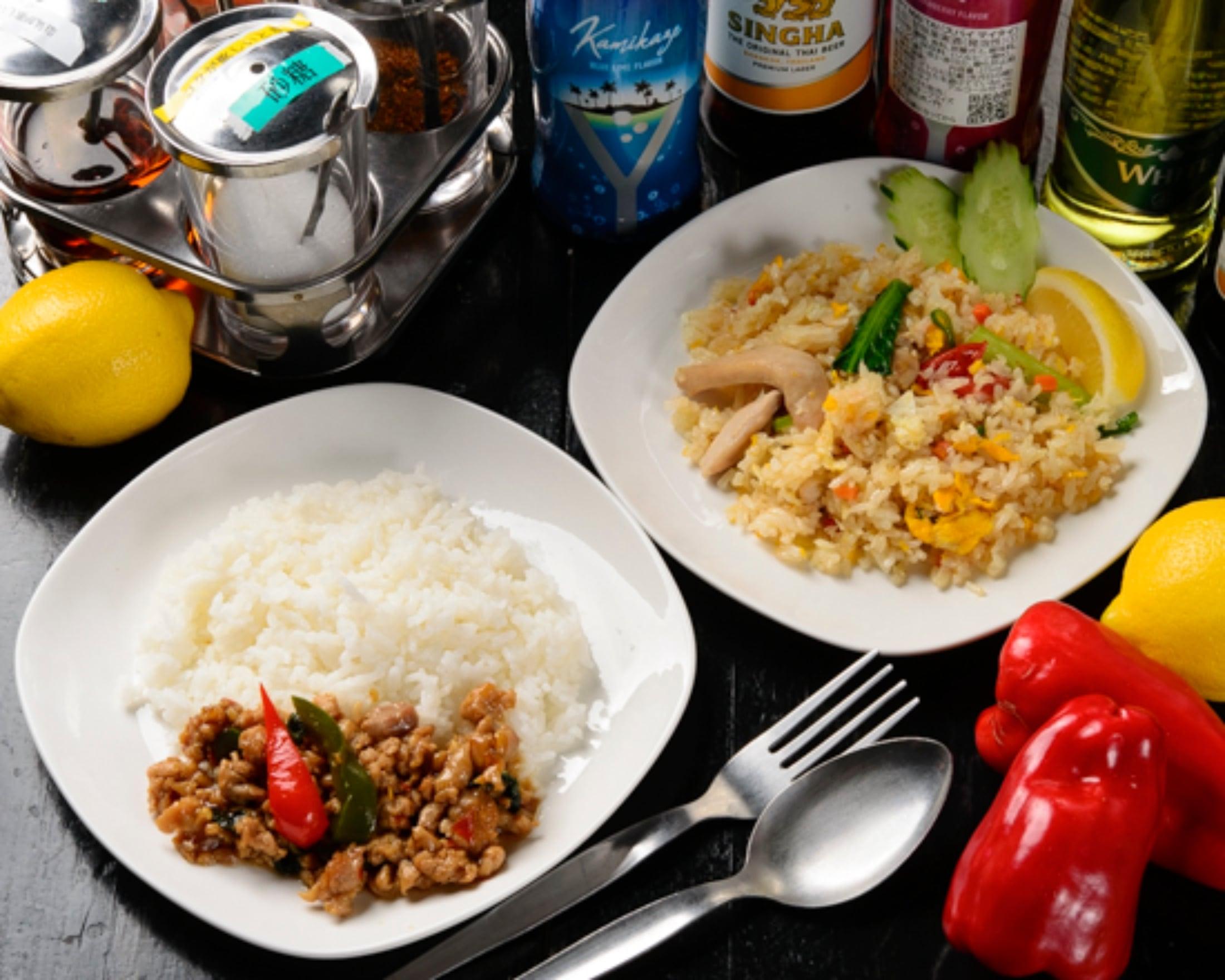 (モバイル限定)タイ料理2種弁当●ガパオごはん と タイの焼き飯