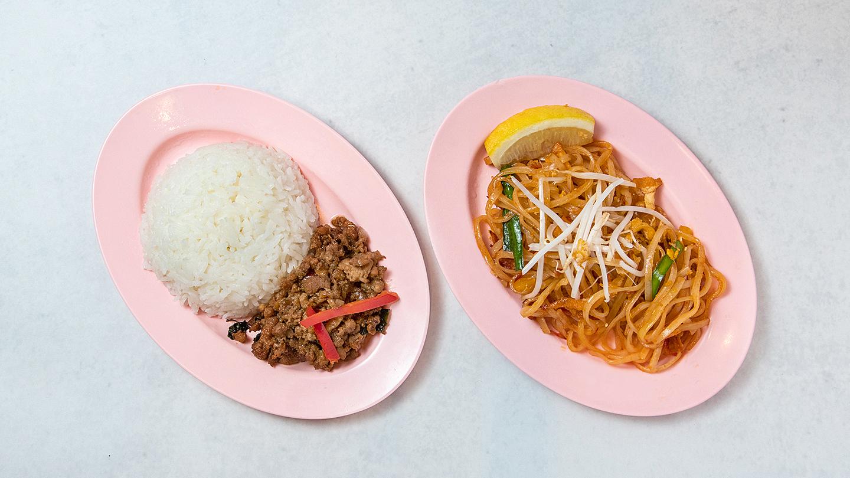 (モバイル限定)タイ料理2種弁当●ガパオごはん と パッタイ