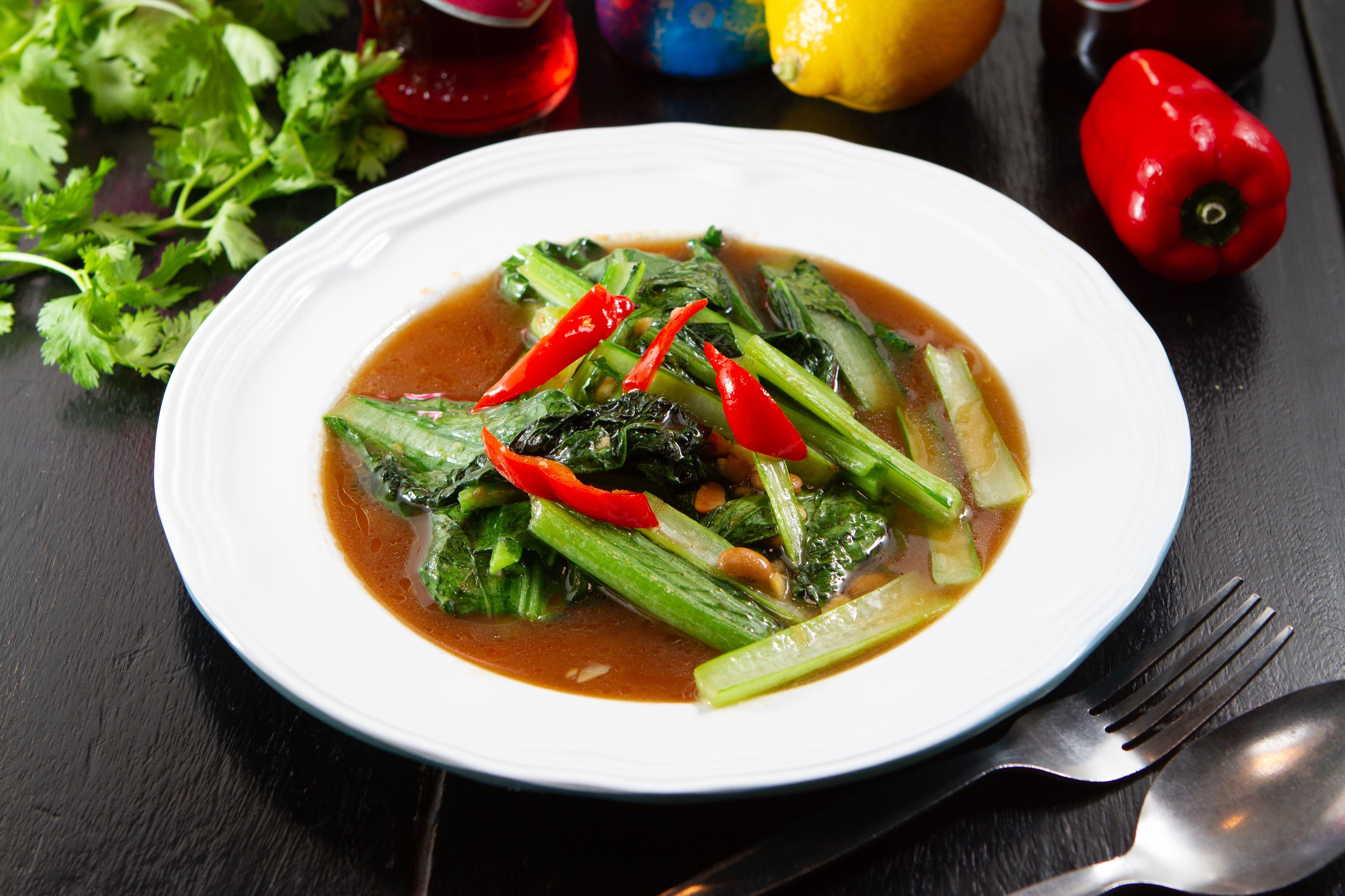 青菜炒め タイ味
